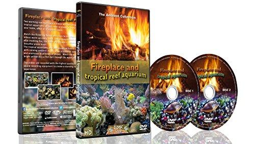 Feuer und Fische - 2 DVD Set - Kaminfeuer und tropisches Riff-Aquarium 2016 mit Aquarium-Geräuschen oder Musik -