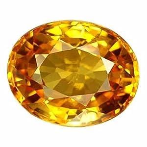 S Kumar Gems & Jewels 7.25 Ratti Yellow Sapphire Gemstone for Men and Women