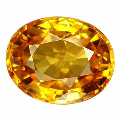 Pukhraj Stone Original Certified Natural Yellow Sapphire Gemstone 7.25 Ratti By S kumar gems jewels