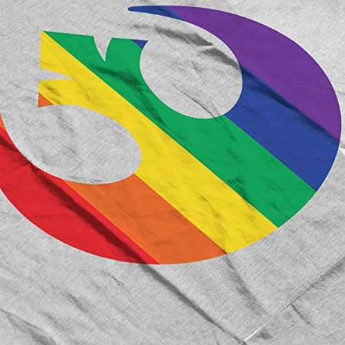 Star Wars Rogue One Rebel Rainbow Logo Women's Vest Heather Grey