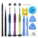 Cemobile Kit d'outils de réparation pour iPhone, kit de tournevis avec des kits d'outils de levier d'ouverture pour iPhone 8/8 Plus/7/7Plus/6S Plus/6S/6 Plus/6/SE/5S/5/5C/4S/4, iPod, iTouch (13 Paquets)