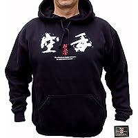 kyokushin Karate Hooded S de camiseta, negro