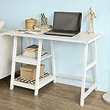 SoBuy FWT16-W Schreibtisch, Tisch, Computertisch, Kinderschreibtisch, Bürotisch, BHT ca:112x76x50cm