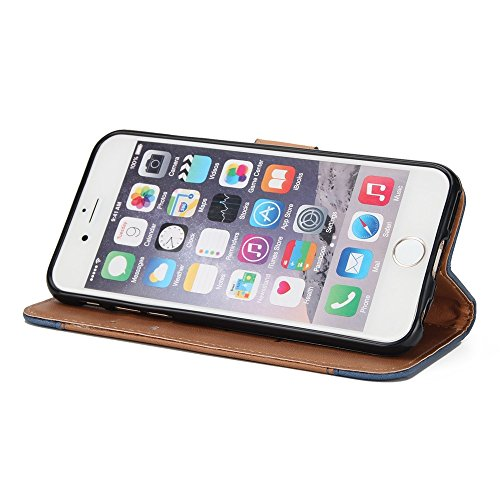 Gemischte Farben Rose Blume matt Premium PU Leder Brieftasche Stand Case Cover mit Lanyard & Card Slots für iPhone 6 und 6s ( Color : Black ) Brown
