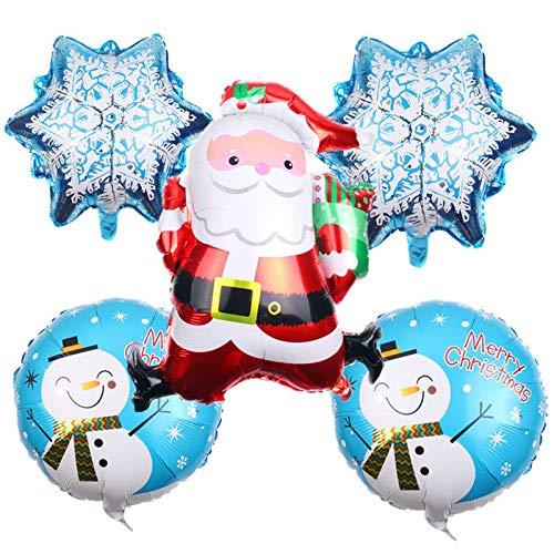 ZHAOLV 5 stücke Weihnachtsmann schneemann Aluminium Ballon Ball Cartoon Spielzeug hohe qualität Mehrzweck -