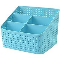 Fanmeili SN2245 Desktop Organizer Scrivania Container per magazzino, blu
