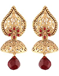 I Jewels High Gold Plated Jhumki/Jhumkas Earrings For Women (E2431M)