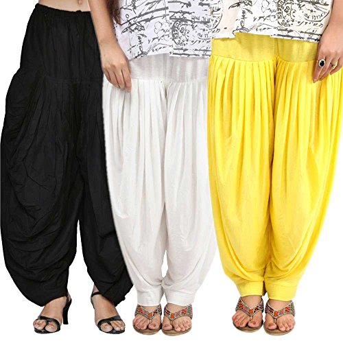 Pixie Patiala Salwar Readymade for Women Bottom Combo Pack of 3