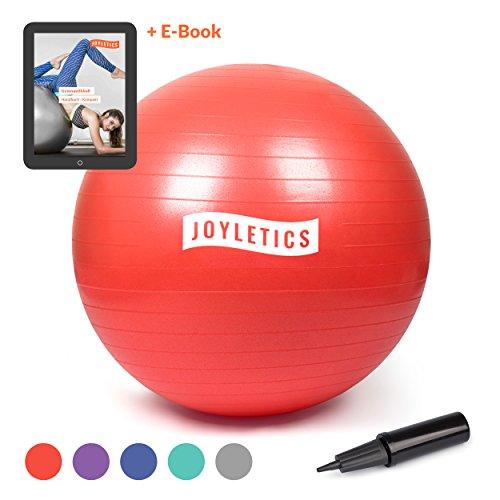 Joyletics® Gymnastikball »L«   Sitzball und Fitnessball für EIN entlastendes Sitzen und vielfältiges Ganzkörpertraining   Gymnastik-Ball Durchmesser 85 cm, rot