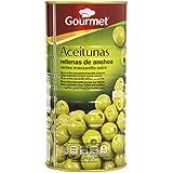 Gourmet - Aceitunas rellenas de anchoa - Verdes manzanilla extra - 600 g