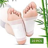 Foot Pads Detox,Patch per piedi,Patch per il Piedi,Cerotti Detox Piedi,Foot patch naturali di bambù organico-Rimuovere le tossine,le chiazze del piede disintossicante, la riduzione di stress (Bianco)