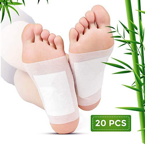 Detox Fußpflaster,Detox Foot Pads,Foot Patches zum Entfernen von Toxinen Natural Organic Bamboo,Detox Pflaster Fuß Gewichtsverlust, Stressabbau -
