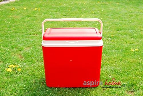 Adriatic Kühlbox 24 Liter Kühltruhe Getränkebox Isolierbox Kühlen Cooler Box Kühltasche (Rot)