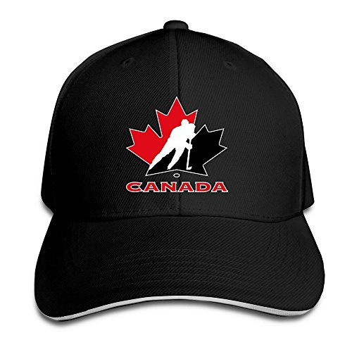 Facsea Runy Custom Hockey Canada Adjustable Baseball Hat /& Cap Black