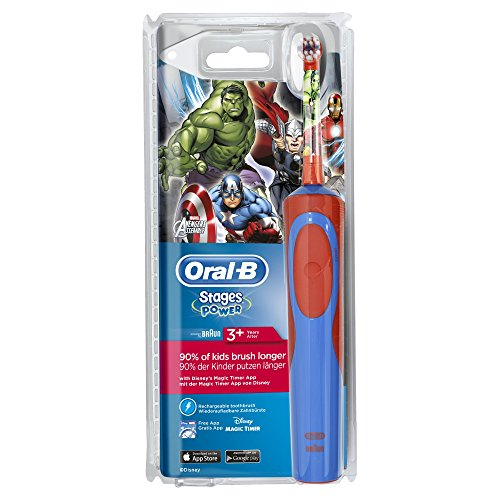 Oral-B Stages Power Kids - Cepillo de dientes eléctrico, diseño Los Vengadores de Marvel