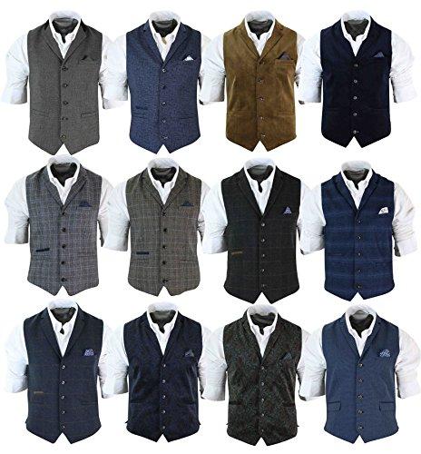 Gilet homme veston tweed chervons velours côtelé laine coupe cintrée rétro d1a8e141704