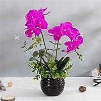 ADLFJGL Flores Artificiales para Decoracion,Phalaenopsis Flor Artificial Novia Ramo De Boda Muebles De Sala