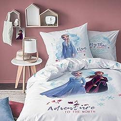La Reine des Neiges Parure de lit Disney 2 - Housse de Couette + taie d'oreiller