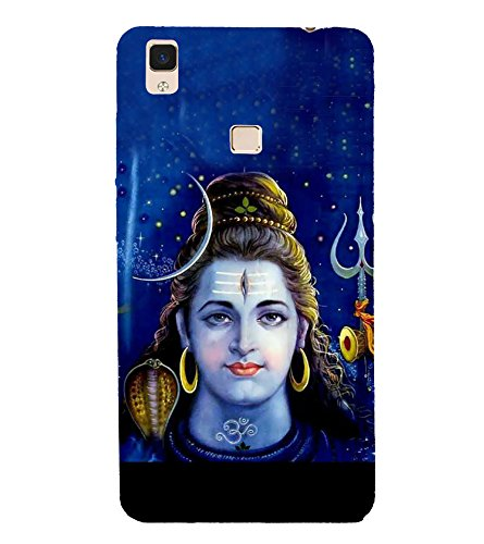 Fiobs Designer Back Case Cover for Vivo V3 Max (Mahadev Shiv Shankar God)