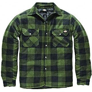 DICKIES Holzfällerhemd Thermohemd PORTLAND (L, grün schwarz) 8f58613975