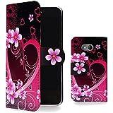 Mobile Case Mate HTC One Mini 2 M8 Mini Handy PU Leder Case Hülle Brieftasche Cover Rosa Schwarz Herz Mit Kreditkarte Fach