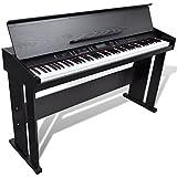 vidaXL Pianoforte classico digitale elettronico con 88 tasti e Leggio