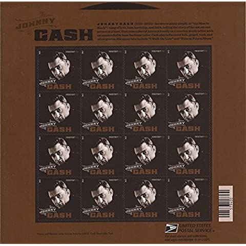 Johnny Cash Collectible US Forever Postage Stamps by USPS