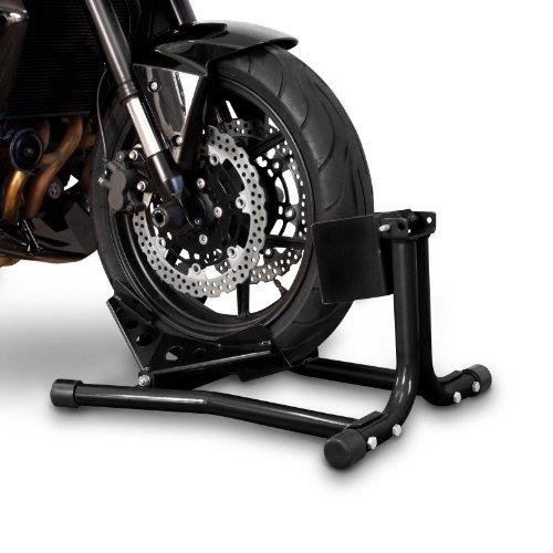 Constands Easy Classic - Motorradwippe Motorradklemme Radhalter Radklemme Wippe Hinterrad für Anhänger Transportständer Montageständer Vorderrad Schwarz
