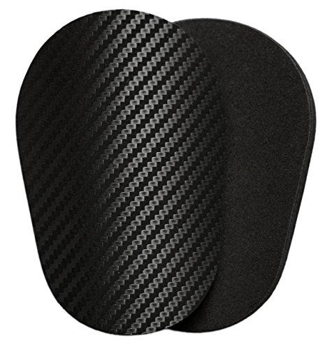 Schienbeinschoner-Polster | 3D-Carbon | leicht, klein, dünn, weich und bequem | Flexibel | Rutschfest | Kein Schutz |