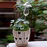 4bolas de/embalaje Aqua de cristal transparente Auto Riego Planta Riego Automático bombillas seta forma diseño soplado a mano