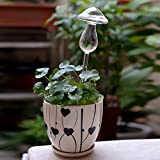 4/Packing Self Watering Clear Glass Aqua Globes Plant Automatic Watering Bulbs Mushroom Shape Design Hand Blown