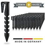LoHaG - [100 Stück] Erdnägel Erdanker Erdspieße - Patentierte Form - Mähroboter Rasenroboter Begrenzungskabel Begrenzungsdraht - Kompatibel für Bosch Gardena Husqvarna Worx Yard Force - Haken Nägel