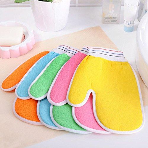 Peeling Körper Handtuch (Magie Peeling Bad Dusche Scrub Handtuch Körper Spa Bad Scrubber Verdicken Starke Dekontamination Zweiseitige Waschlappen)