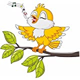Decals Design 'Singing Bird Tweety' Wall Sticker (PVC Vinyl, 70 cm x 25 cm, Multicolour)