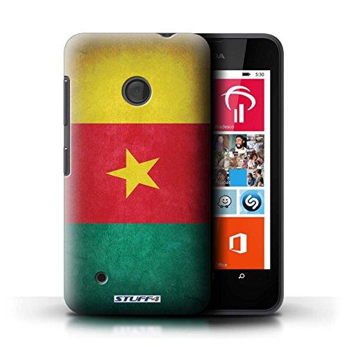Kobalt® Imprimé Etui / Coque pour Nokia Lumia 530 / Suède/suèdois conception / Série Drapeau Cameroun