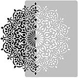 Pochoir Réutilisable en plastique // Géométrique - Mandala #3 - Cercle - Fleur // Modèle de peinture // Décoration murale (Di