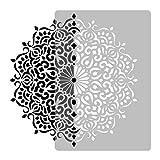 Wiederverwendbare Wandschablone aus Kunststoff // Durchmesser 59cmcm // GEOMETRISCH - MANDALA #3 - BLUME // Muster Schablone Vorlage