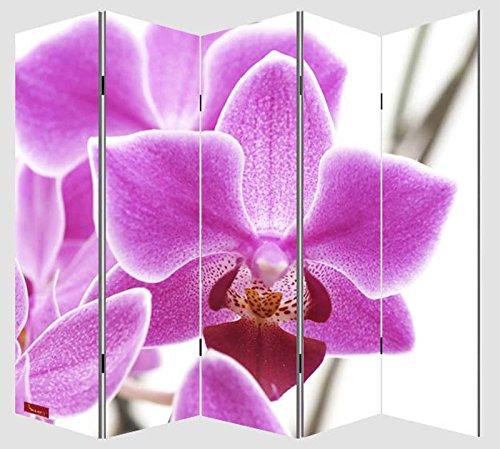 foto de Paravento divisore doppia immagine 5 pannelli M68 180x200cm ~ orchidee