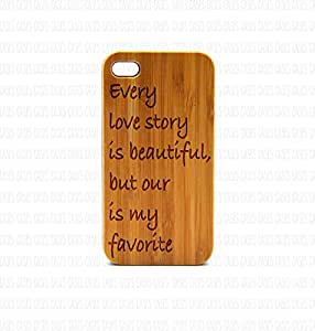 Krezy Case Real Wood iPhone 5 Case, every love story quote iPhone 5 Case, Wood iPhone 5 Case, Wood iPhone Case