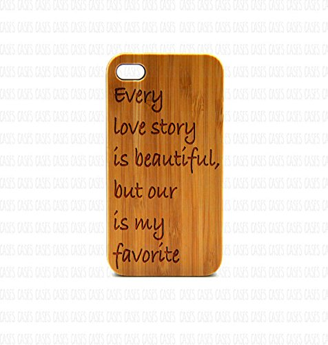 Krezy Case Real Wood iPhone 6 Case, every love story quote iPhone 6 Case, Wood iPhone 6 Case, Wood iPhone Case,