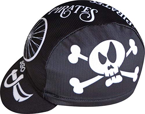 Cycle cap Ekeko Blackbeard vsystem Microperforated polyester. One Size with Back Adjustment Rubber (Black / White)