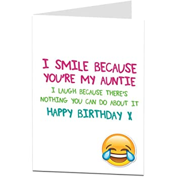 Funny Happy Birthday Card Auntie Aunty Perfect For 21st 30th 40th 50th 60th