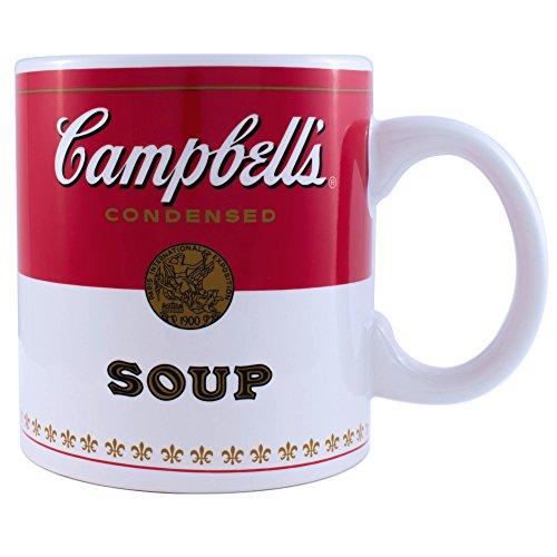 Silver Buffalo Campbells Soup 20oz Jumbo Ceramic Mug Andy Warhol Coffee Tea Cup Gift (Jumbo Mug Ceramic)