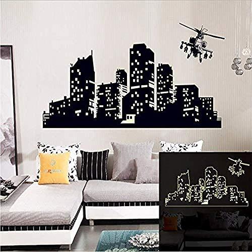 Adhesivo de pared Lámpara fluorescente grande vinilo pegatinas de pared cielo nocturno pegatinas de pared para niños o sala de estar luz oscura 60 * 90 cm