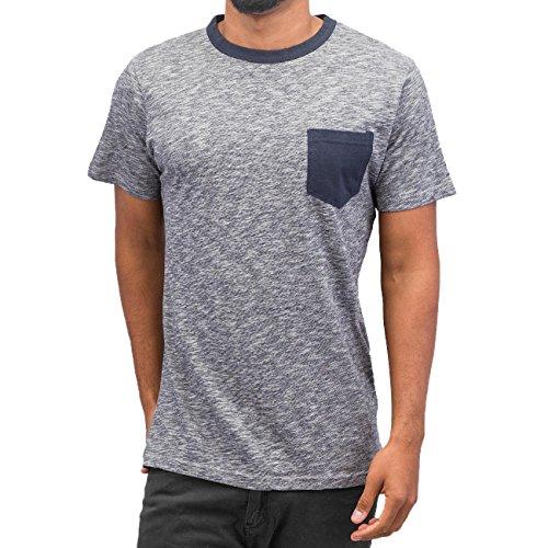 Just Rhyse Herren Oberteile / T-Shirt Breast Pocket Blau