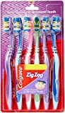#6: Colgate ZigZag Toothbrush (Soft, Pack of 6)
