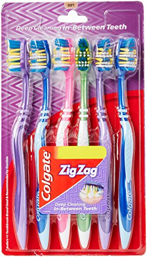 Colgate ZigZag Toothbrush (Soft, Pack Of 6)