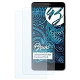 Bruni Schutzfolie kompatibel mit Vernee Thor E Folie, glasklare Bildschirmschutzfolie (2X)