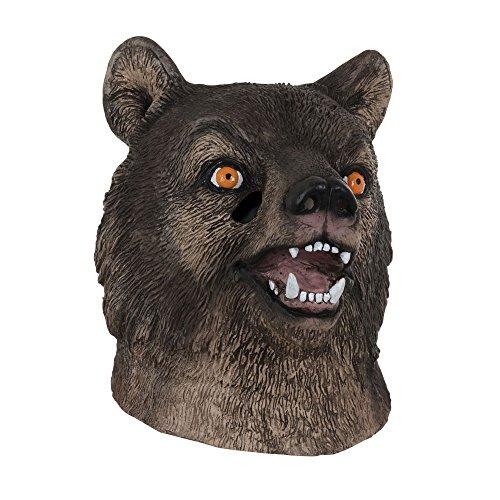 Bristol Novelty BM532 Bär Maske, braun, Einheitsgröße (Bär Kostüm Realistische Für Erwachsene)