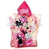 Non brand Poncho Accappatoio di Spugna Disney Minnie Sweet